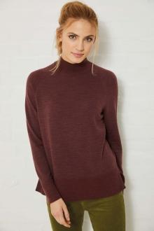 Pullover hoher Kragen