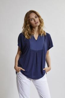 Shirt oversized im Voile-Mix